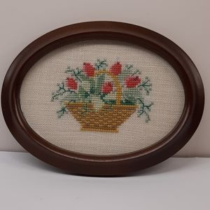 Vintage Framed Needlepoint